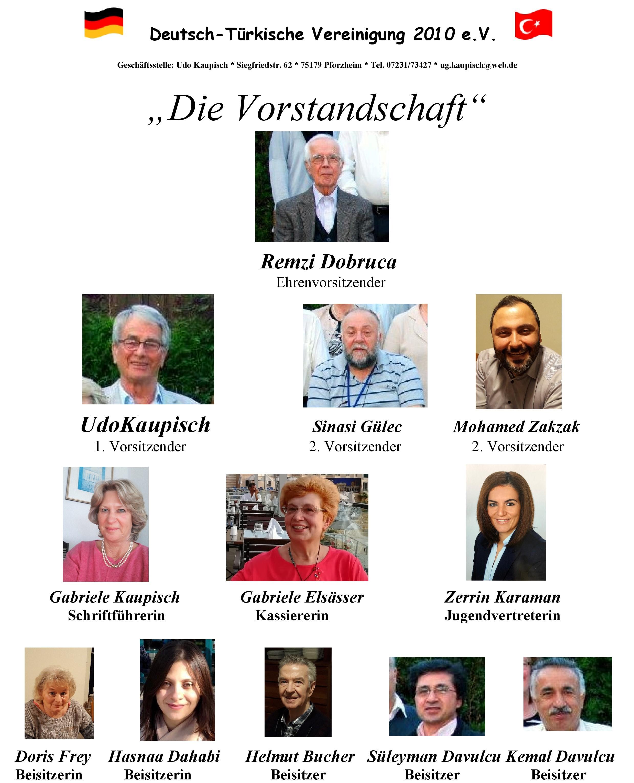 VORSTAND der Deutsch-Türkischen Vereinigung (gewählt am 23.03.2018)
